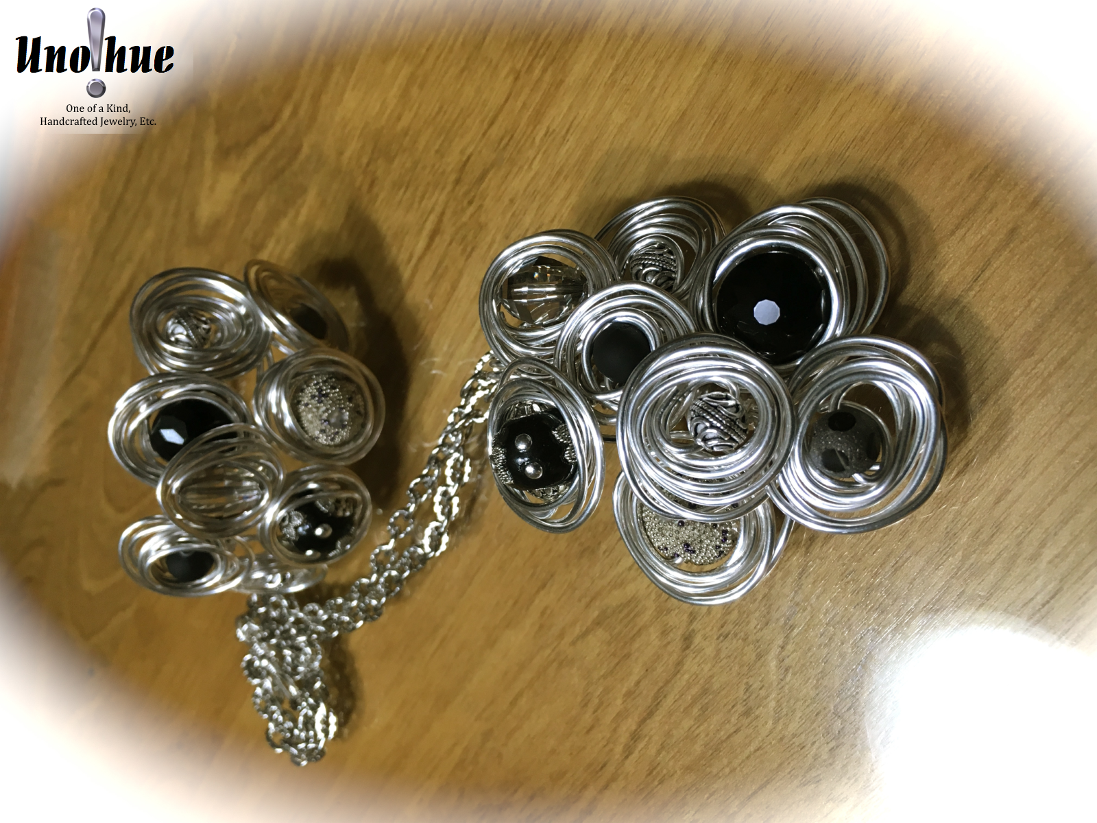 Novelty Collection Black White and Silver