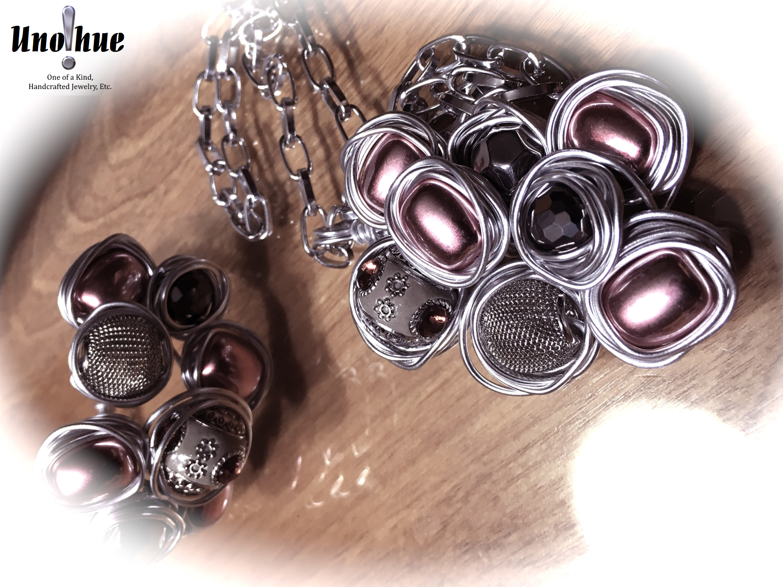 Novelty Collection in Pink and Silver
