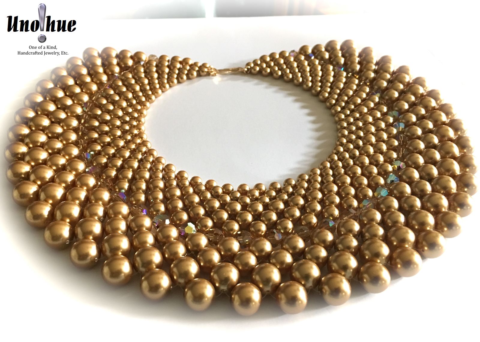 beaded collar gold